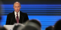 Russian President Vladimir Putin delivers a speech during a session of the Valdai International Discussion Club in Sochi, Russia, October 27, 2016. Sputnik/Kremlin/Mikhail Klimentyev via REUTERS ATTENTION EDITORS - THIS IMAGE WAS PROVIDED BY A THIRD PARTY. EDITORIAL USE ONLY. - RTX2QQ1F - Альфа новости по-русски